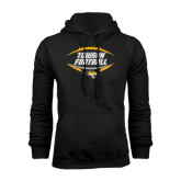Black Fleece Hoodie-Towson Football Inside Ball