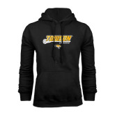 Black Fleece Hoodie-Lacrosse Stick w/Calvert Pattern