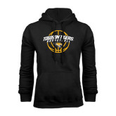 Black Fleece Hoodie-Basketball Arched w/Ball