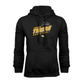 Black Fleece Hoodie-Tigers Basketball Slanted w/Striped Pattern