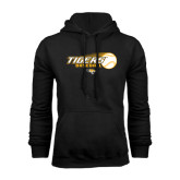 Black Fleece Hoodie-Tigers Baseball Flat w/Flying Ball
