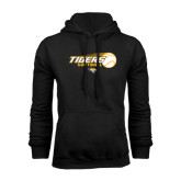 Black Fleece Hoodie-Tigers Softball Flat w/Flying Ball