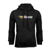 Black Fleece Hoodie-Tiger Head w/Towson Flat