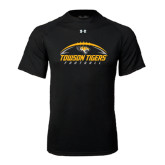 Under Armour Black Tech Tee-Towson Tigers Football Horizontal