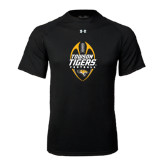 Under Armour Black Tech Tee-Towson Tigers Football Vertical