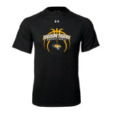 Under Armour Black Tech Tee-Towson Tigers Arched Over Basketball