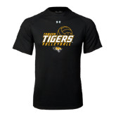Under Armour Black Tech Tee-Tigers Volleyball Stacked w/ Ball
