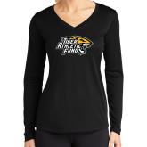 Ladies Syntrel Performance Black Longsleeve Shirt-Tiger Athletic Fund