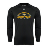 Under Armour Black Long Sleeve Tech Tee-Towson Tigers Football Horizontal