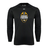Under Armour Black Long Sleeve Tech Tee-Towson Tigers Football Vertical