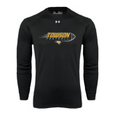 Under Armour Black Long Sleeve Tech Tee-Flying Football w/Tiger Stripes