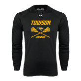 Under Armour Black Long Sleeve Tech Tee-Lacrosse Crossed Sticks