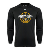 Under Armour Black Long Sleeve Tech Tee-Basketball Arched w/Ball