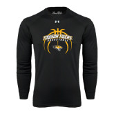 Under Armour Black Long Sleeve Tech Tee-Towson Tigers Arched Over Basketball