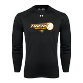 Under Armour Black Long Sleeve Tech Tee-Tigers Baseball Flat w/Flying Ball