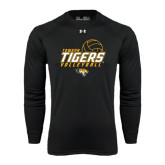 Under Armour Black Long Sleeve Tech Tee-Tigers Volleyball Stacked w/ Ball