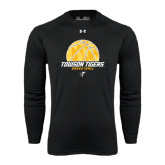 Under Armour Black Long Sleeve Tech Tee-Basketball Solid Ball w/Calvert Pattern