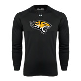 Under Armour Black Long Sleeve Tech Tee-Tiger Head