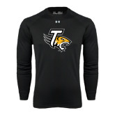 Under Armour Black Long Sleeve Tech Tee-T w/Tiger Head