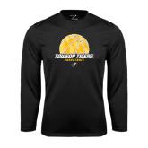 Performance Black Longsleeve Shirt-Basketball Solid Ball w/Calvert Pattern