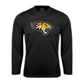 Performance Black Longsleeve Shirt-Tiger Head
