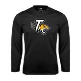 Performance Black Longsleeve Shirt-T w/Tiger Head