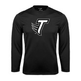 Performance Black Longsleeve Shirt-Towson T