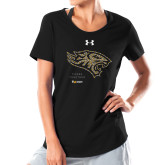 Ladies Under Armour Black Charged Cotton Tee-Tigers Together