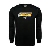 Black Long Sleeve TShirt-Lacrosse Stick w/Calvert Pattern