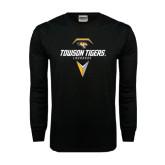 Black Long Sleeve TShirt-Geometric Lacrosse Head