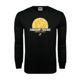 Black Long Sleeve TShirt-Basketball Solid Ball w/Calvert Pattern