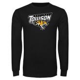 Black Long Sleeve T Shirt-Softball