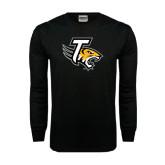 Black Long Sleeve TShirt-T w/Tiger Head