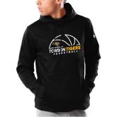 Under Armour Black Armour Fleece Hoodie-Basketball Half Ball