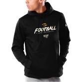 Under Armour Black Armour Fleece Hoodie-Football Brush