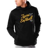 Under Armour Black Armour Fleece Hoodie-Softball Script