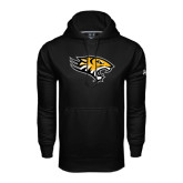 Under Armour Black Performance Sweats Team Hoodie-Tiger Head