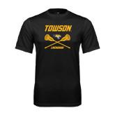 Performance Black Tee-Lacrosse Crossed Sticks