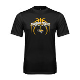 Syntrel Performance Black Tee-Towson Tigers Arched Over Basketball