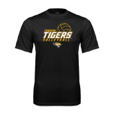 Syntrel Performance Black Tee-Tigers Volleyball Stacked w/ Ball