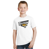 Youth White T Shirt-Baseball