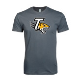 Next Level SoftStyle Charcoal T Shirt-T w/Tiger Head