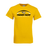 Gold T Shirt-Towson Tigers Football Horizontal