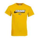 Gold T Shirt-Lacrosse Stick w/Calvert Pattern