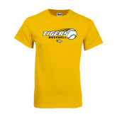 Gold T Shirt-Tigers Baseball Flat w/Flying Ball