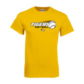 Gold T Shirt-Tigers Softball Flat w/Flying Ball