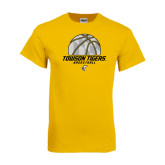 Gold T Shirt-Basketball Solid Ball w/Calvert Pattern
