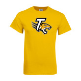 Gold T Shirt-T w/Tiger Head