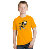 Youth Gold T Shirt-Running Youth Mark