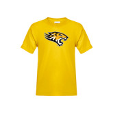 Youth Gold T Shirt-Tiger Head